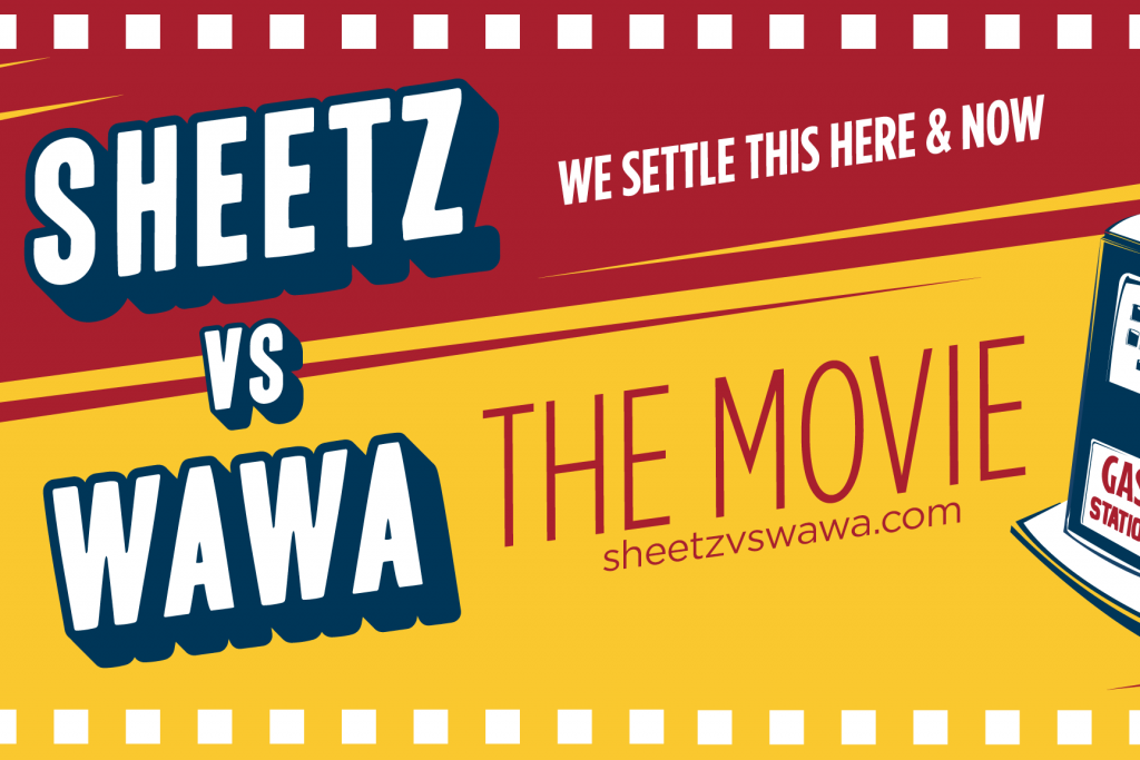 Sheetz vs. Wawa movie logo