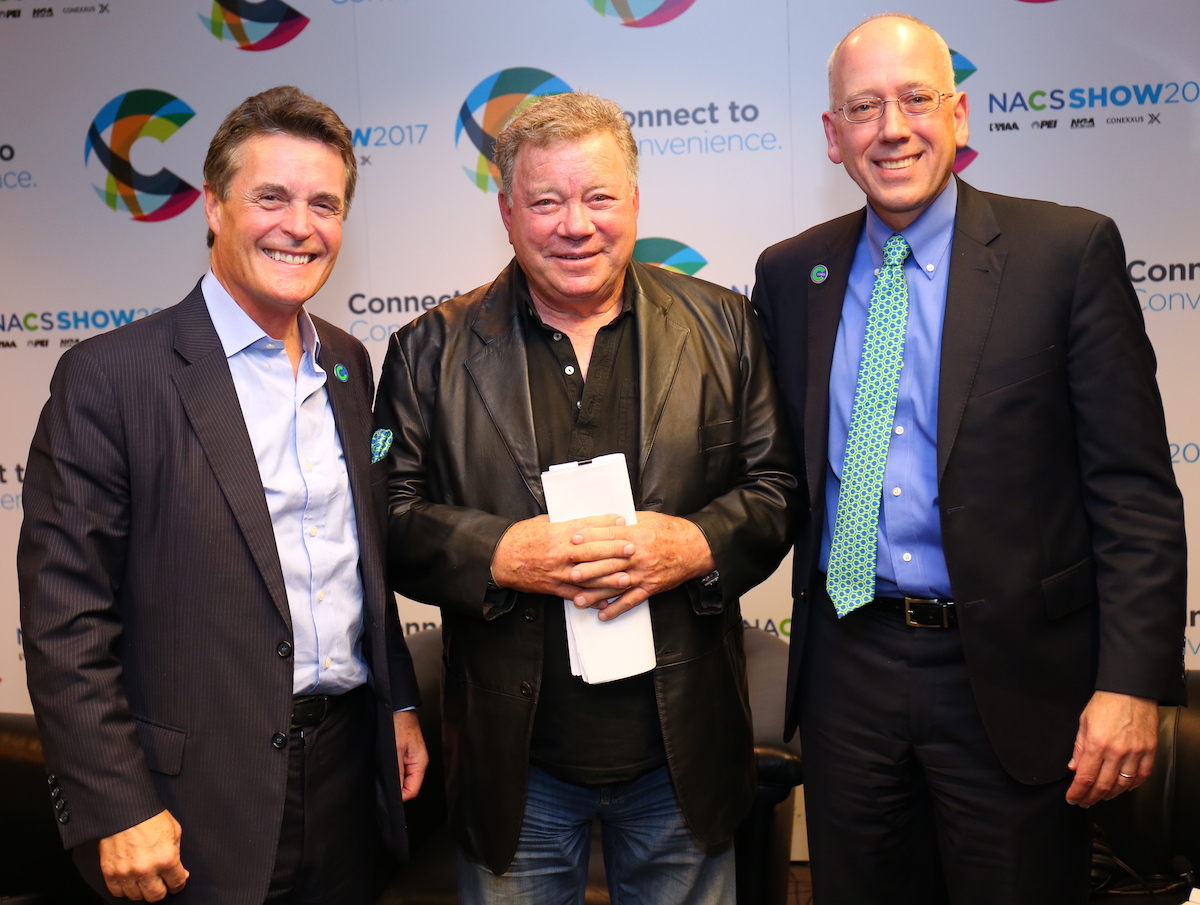 William Shatner and Henry O. Armour, President and CEO, NACS